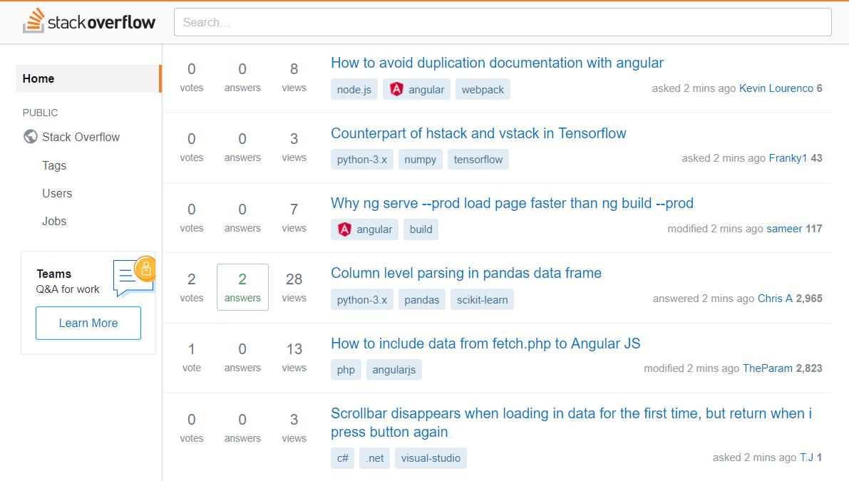 stack overflow forum